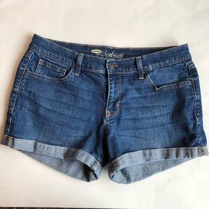 Old Navy Boyfriend Cuffed Jean Shorts 8